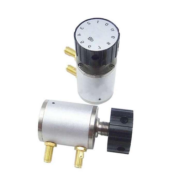 Manual knob variable attenuator, 6G, 2W, 10dB, SMA Female Connector