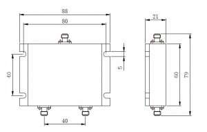 2-Way Wilkinson Power Divider 698-2700 SMA-Female Drawing