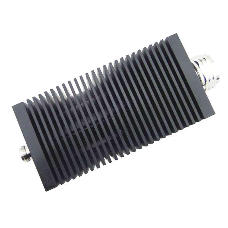 Coax attenuator, 100W, 0-2500Mhz, DIN MALE TO N FEMALE