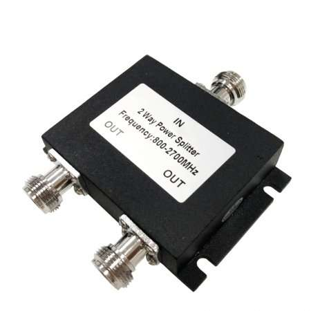 2 Way Power Splitter, Microstrip Type, Indoor, 50W, 800-2700MHz, N female